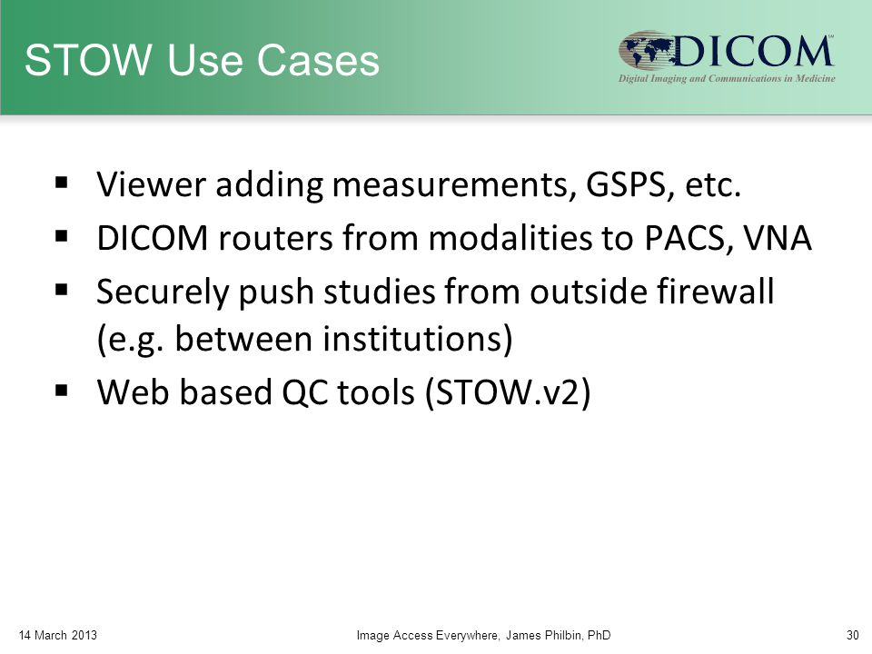 STOW Use Cases Viewer adding measurements, GSPS, etc.