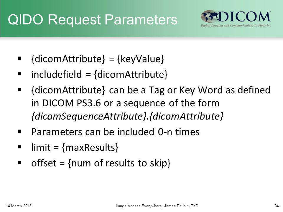 QIDO Request Parameters