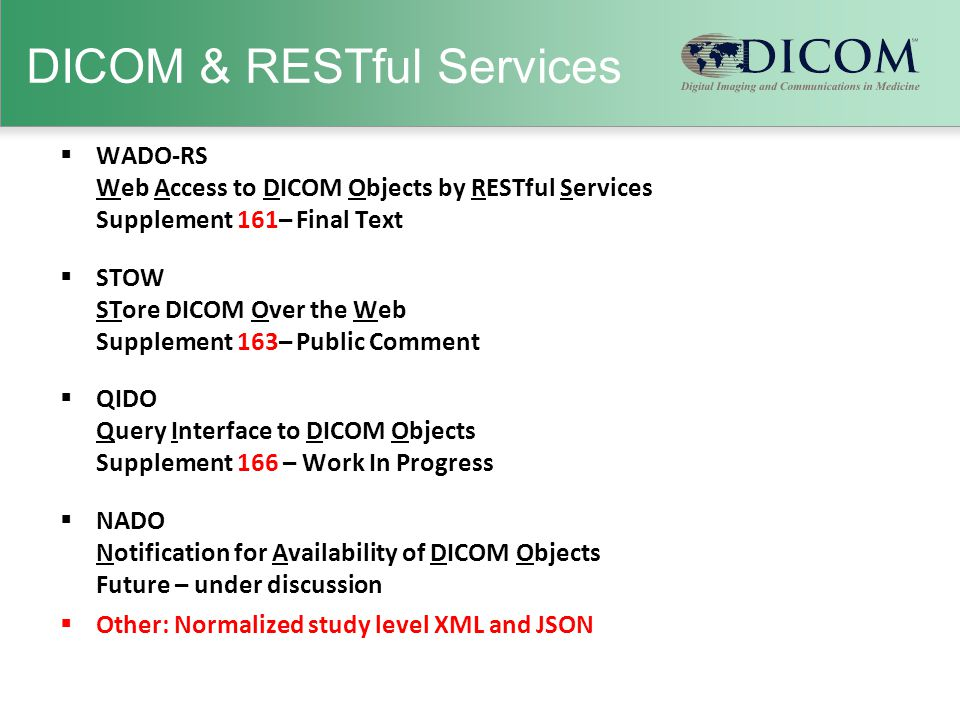 DICOM & RESTful Services
