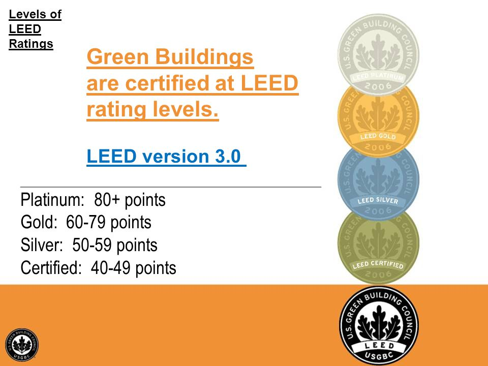 LEED and SDD Training Course U.S. Army Fort Hood