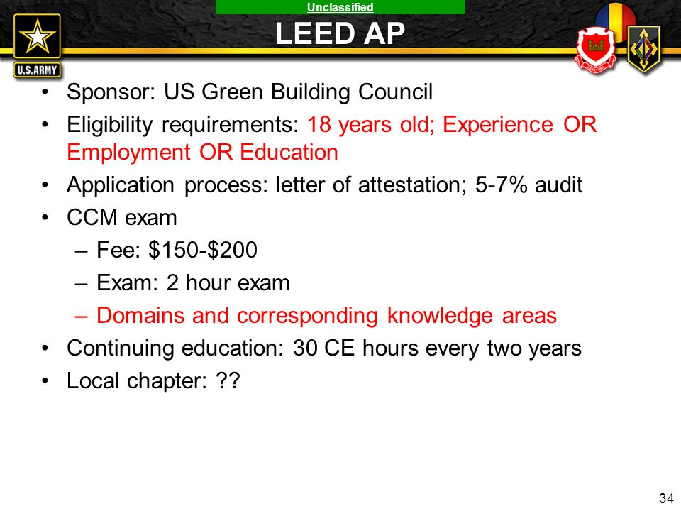 LEED AP Sponsor: US Green Building Council