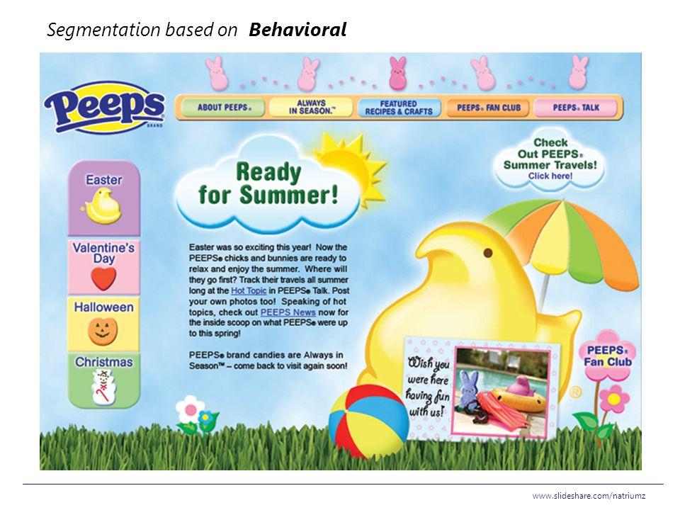 Segmentation based on Behavioral