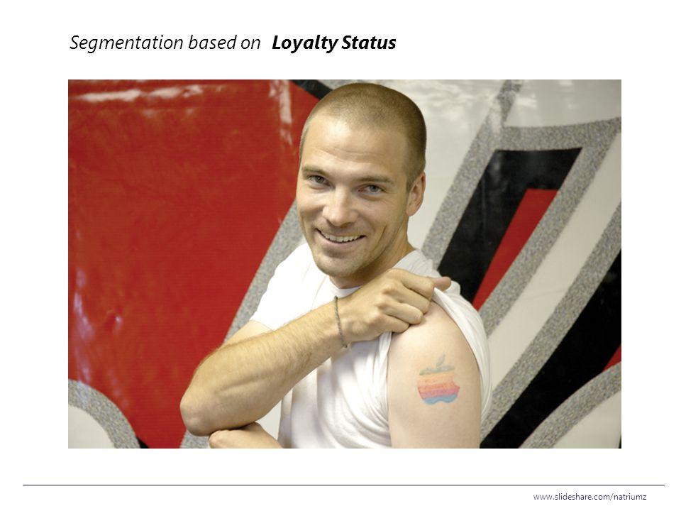 Segmentation based on Loyalty Status