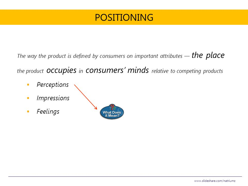 Positioning Perceptions Impressions Feelings