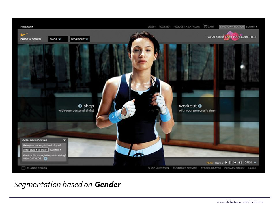 Segmentation based on Gender