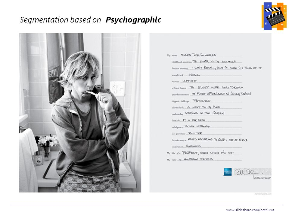 Segmentation based on Psychographic