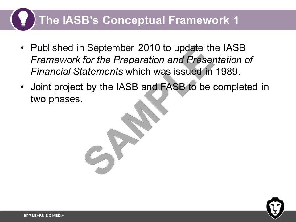 The IASB's Conceptual Framework 1