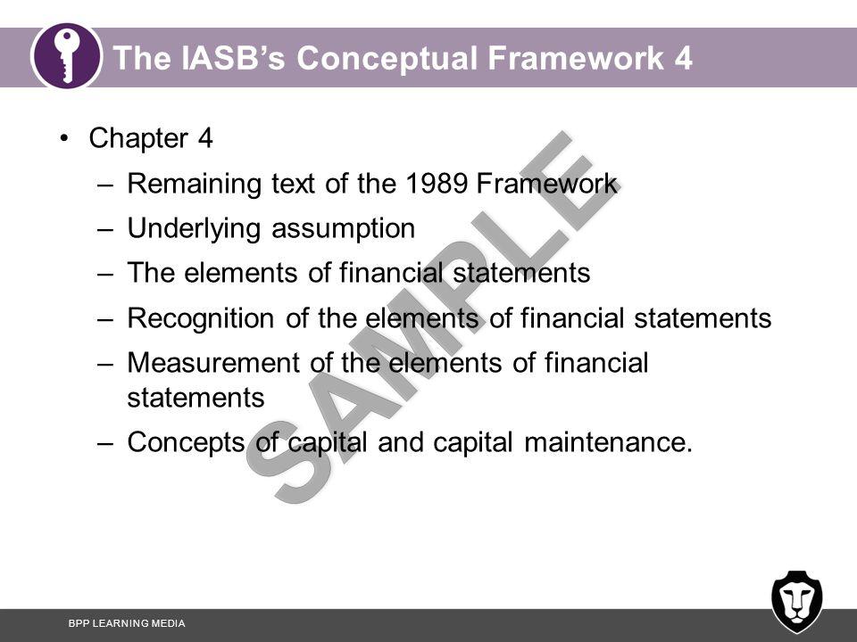The IASB's Conceptual Framework 4