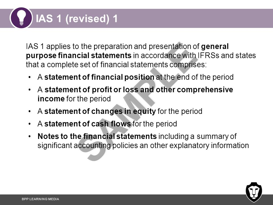IAS 1 (revised) 1