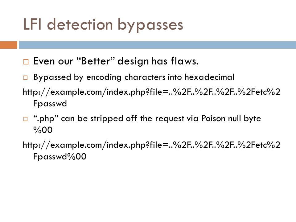 LFI detection bypasses