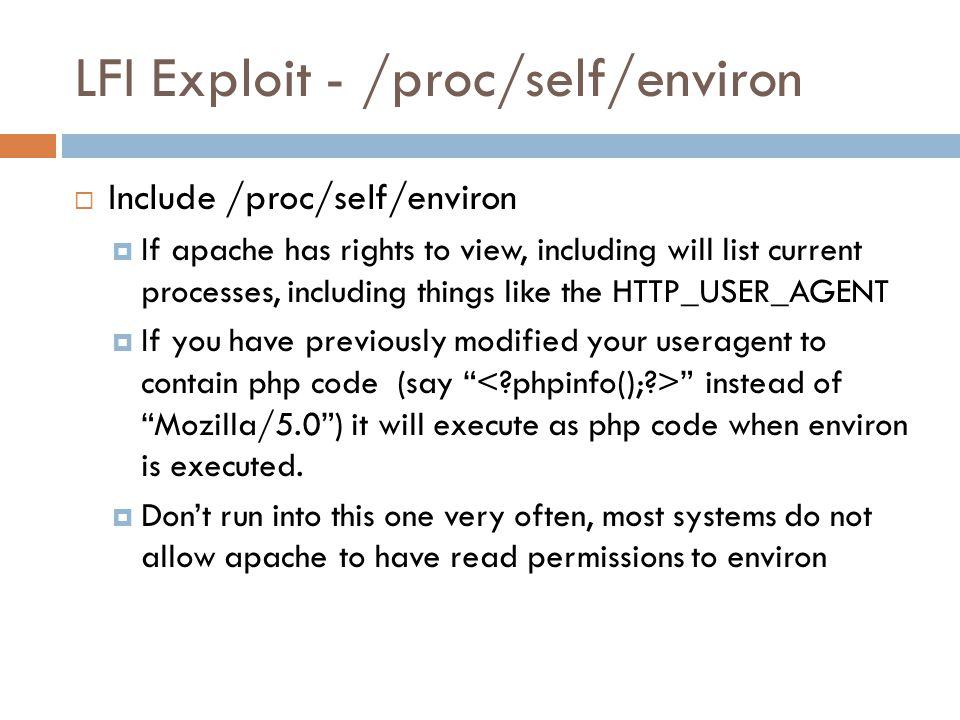 LFI Exploit - /proc/self/environ