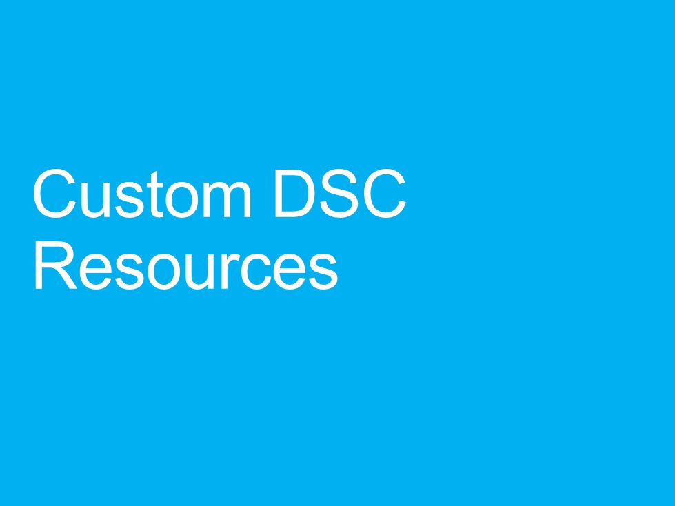 Custom DSC Resources