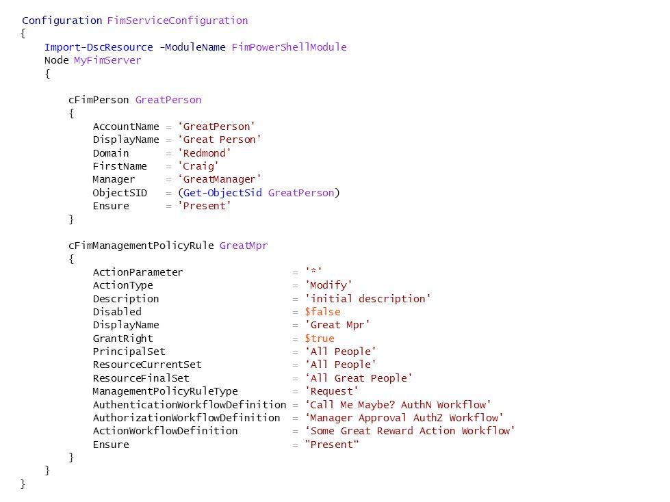 Configuration FimServiceConfiguration