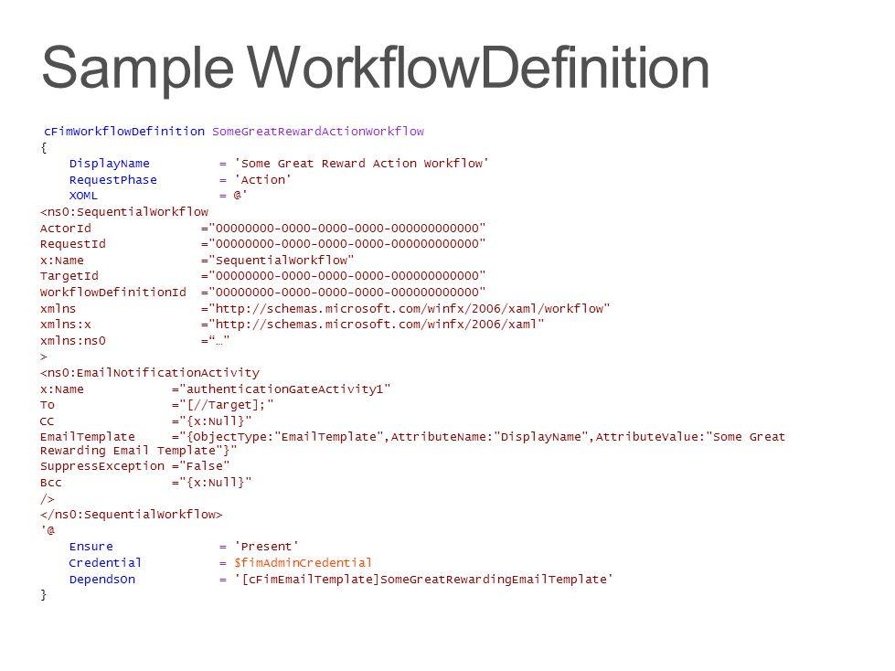 Sample WorkflowDefinition