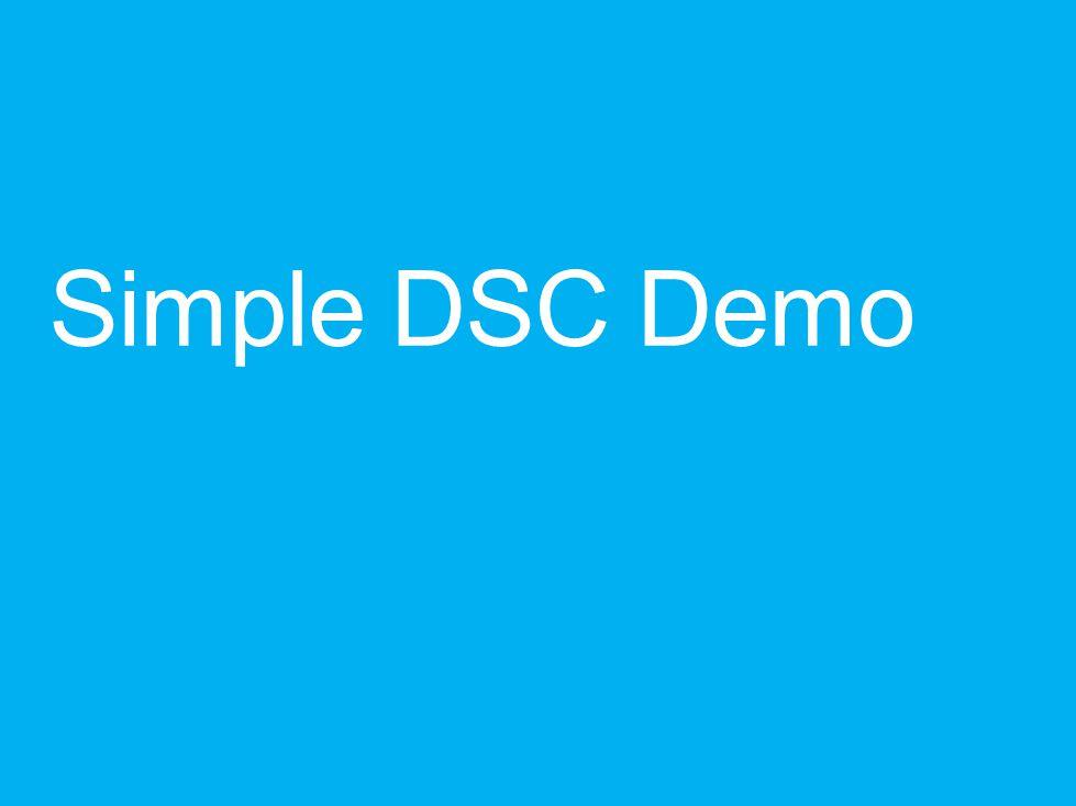 Simple DSC Demo