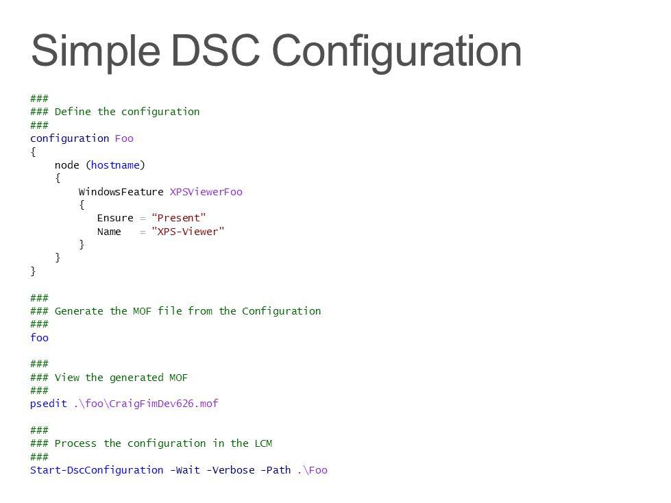 Simple DSC Configuration
