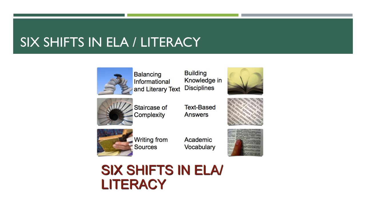 Six shifts in ela / literacy