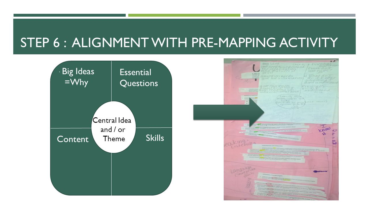 Step 6 : Alignment with pre-mapping activity
