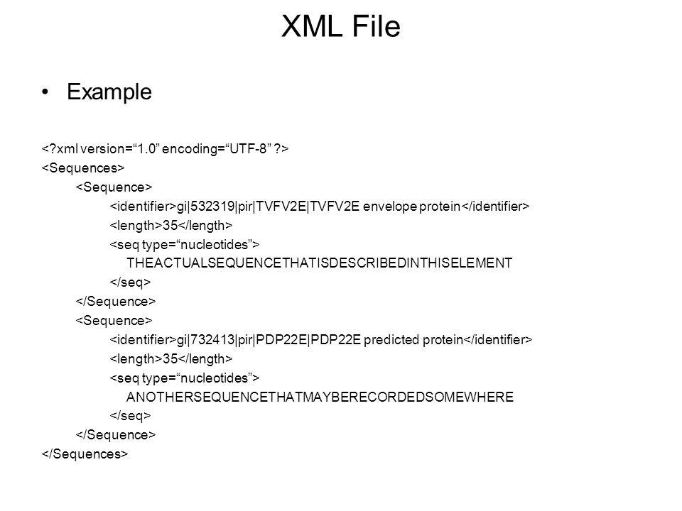 XML File Example < xml version= 1.0 encoding= UTF-8 >
