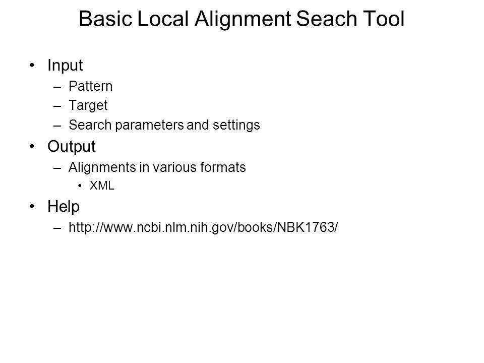 Basic Local Alignment Seach Tool