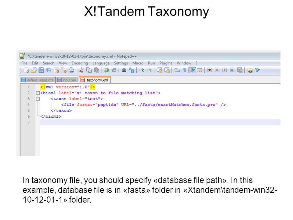 X!Tandem Taxonomy