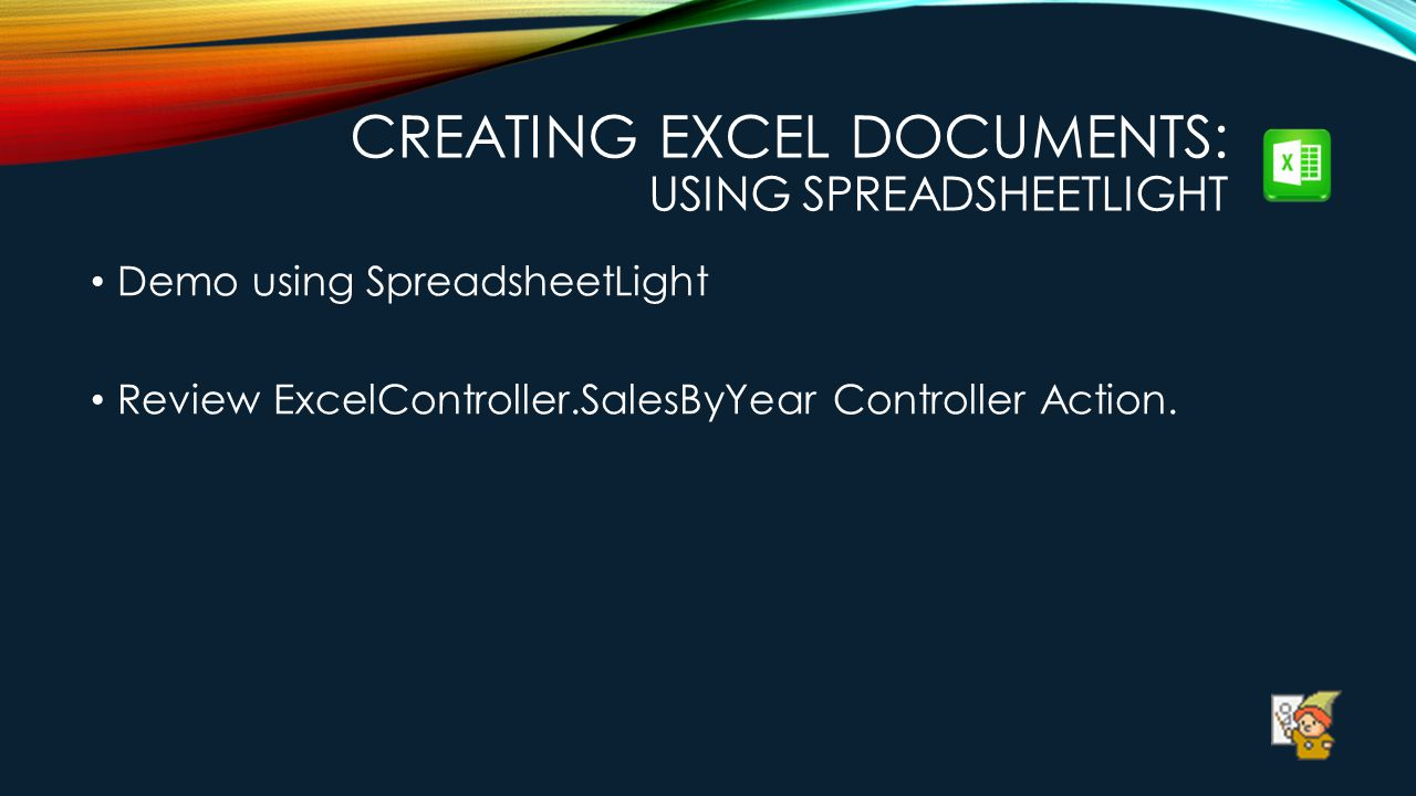 Creating Excel Documents: Using SpreadsheetLight