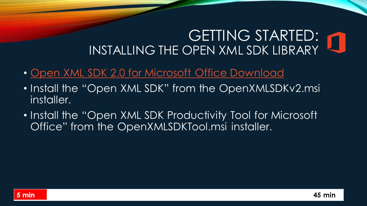 Getting Started: Installing the Open XML SDK Library