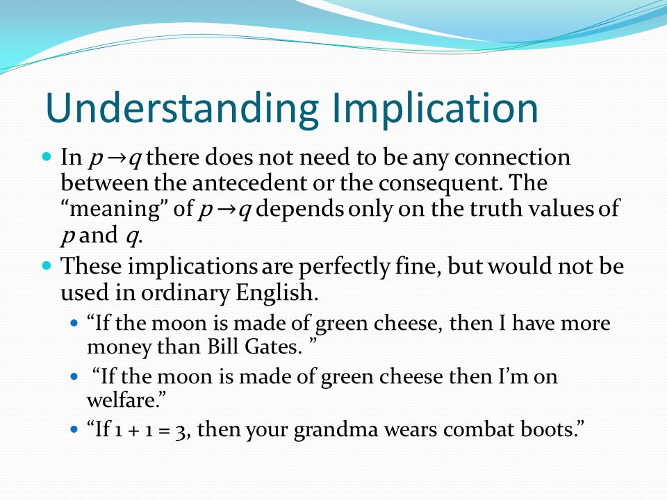 Understanding Implication