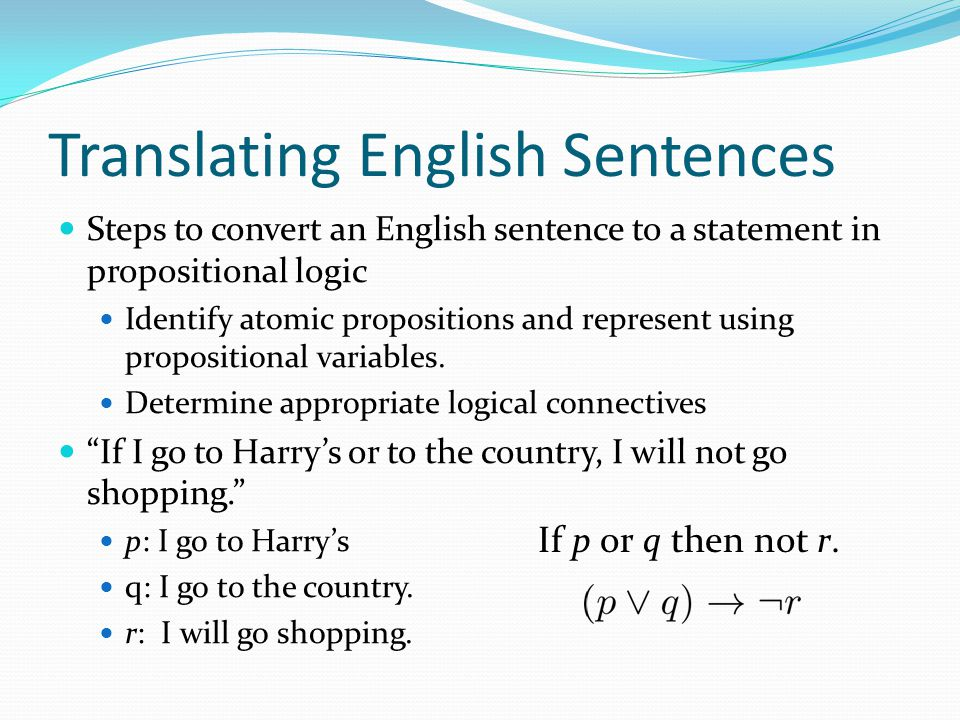 Translating English Sentences