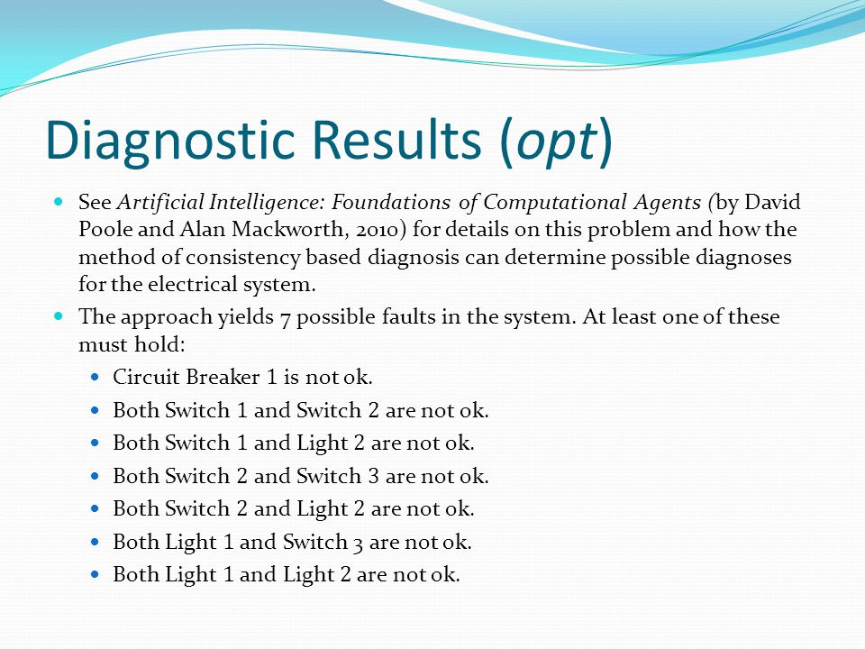 Diagnostic Results (opt)