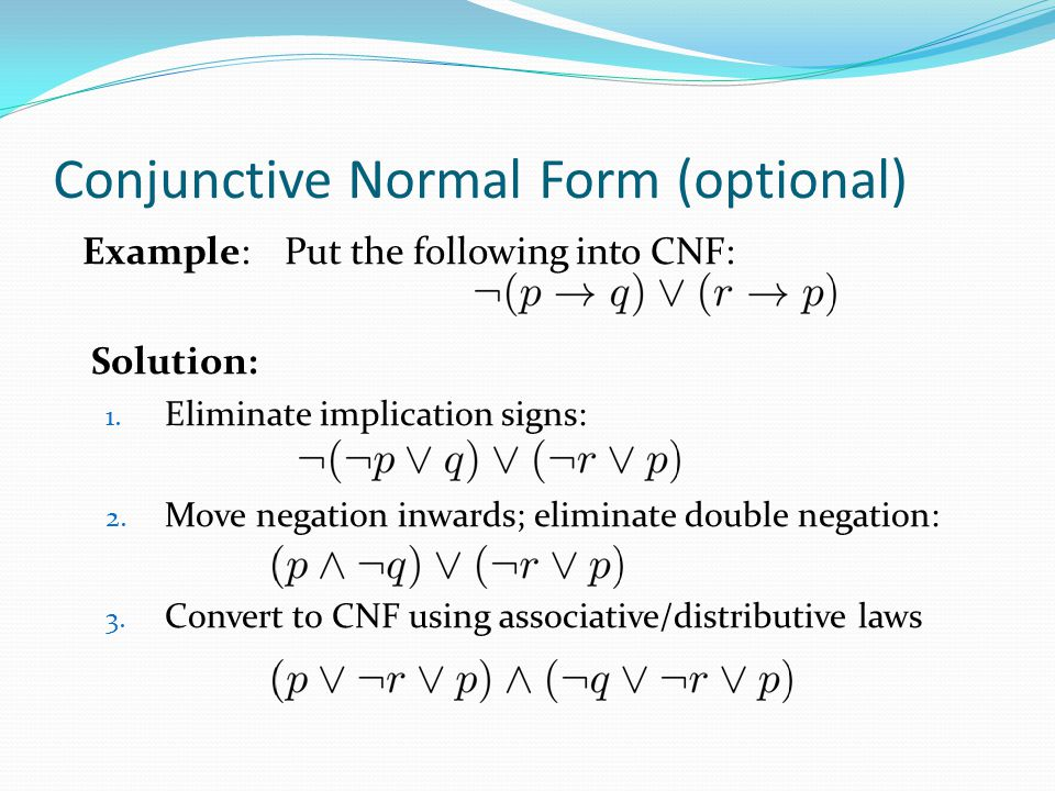 Conjunctive Normal Form (optional)