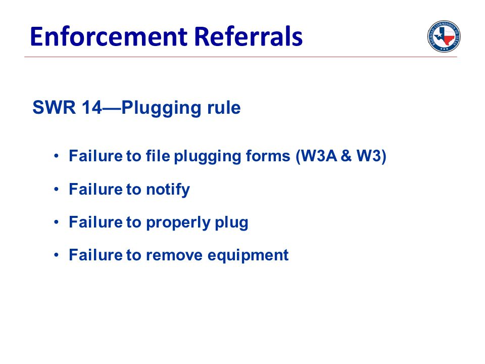 Enforcement Referrals