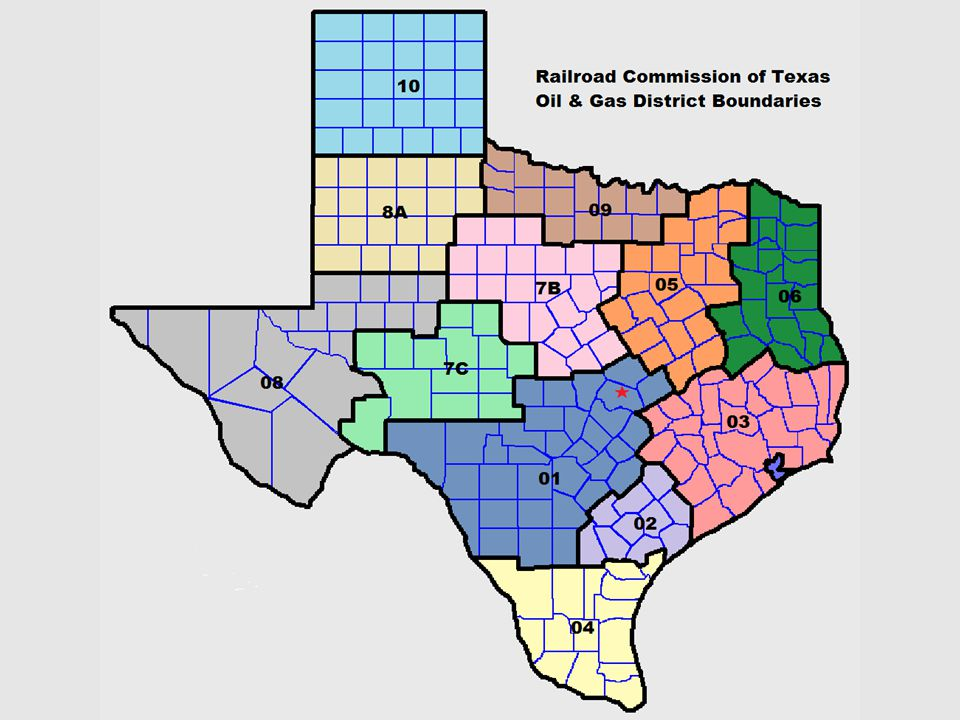 The Field Operations section of the Oil and Gas Division is headquartered in Austin and has nine district offices throughout the State.