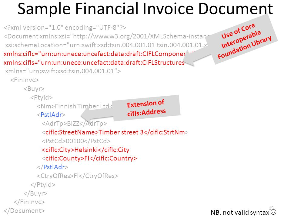 Sample Financial Invoice Document