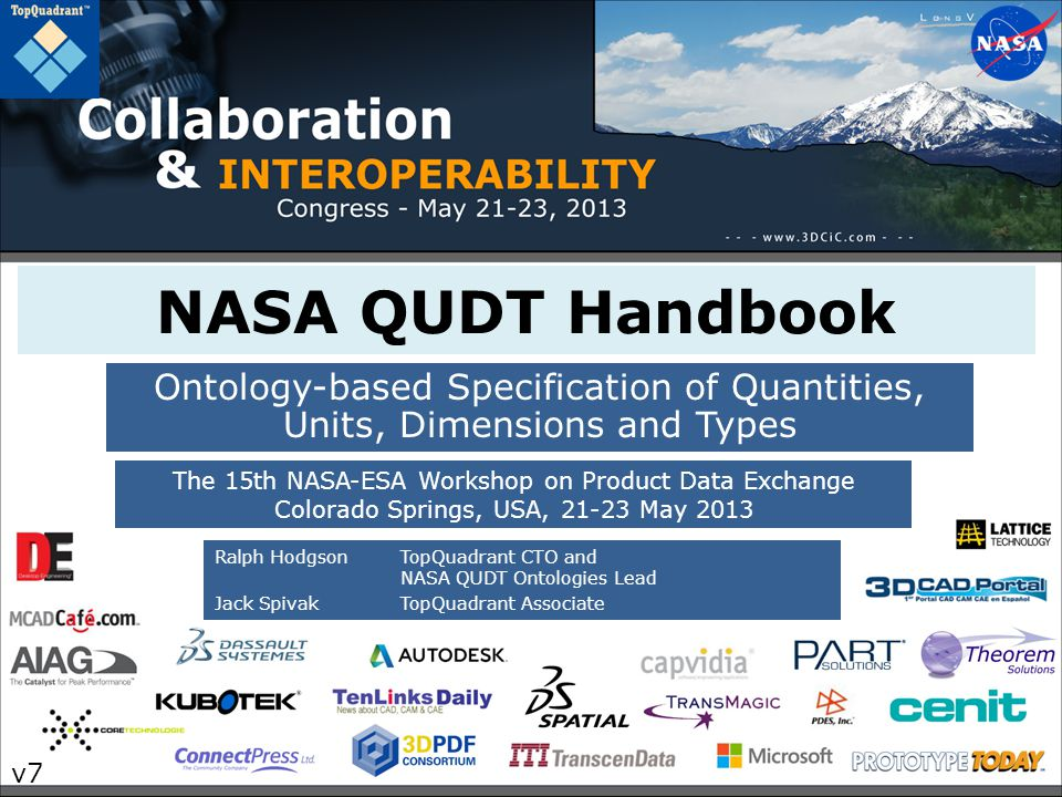 NASA QUDT Handbook Ontology-based Specification of Quantities, Units, Dimensions and Types.