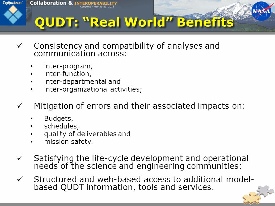 QUDT: Real World Benefits