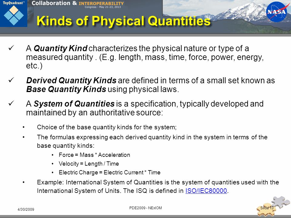Kinds of Physical Quantities