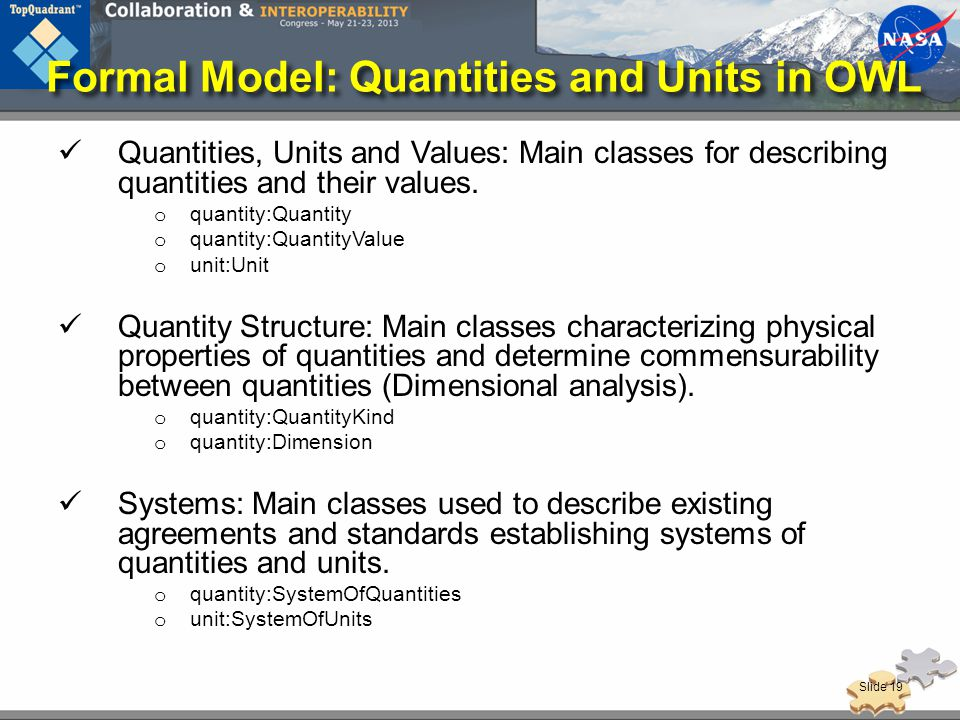 Formal Model: Quantities and Units in OWL