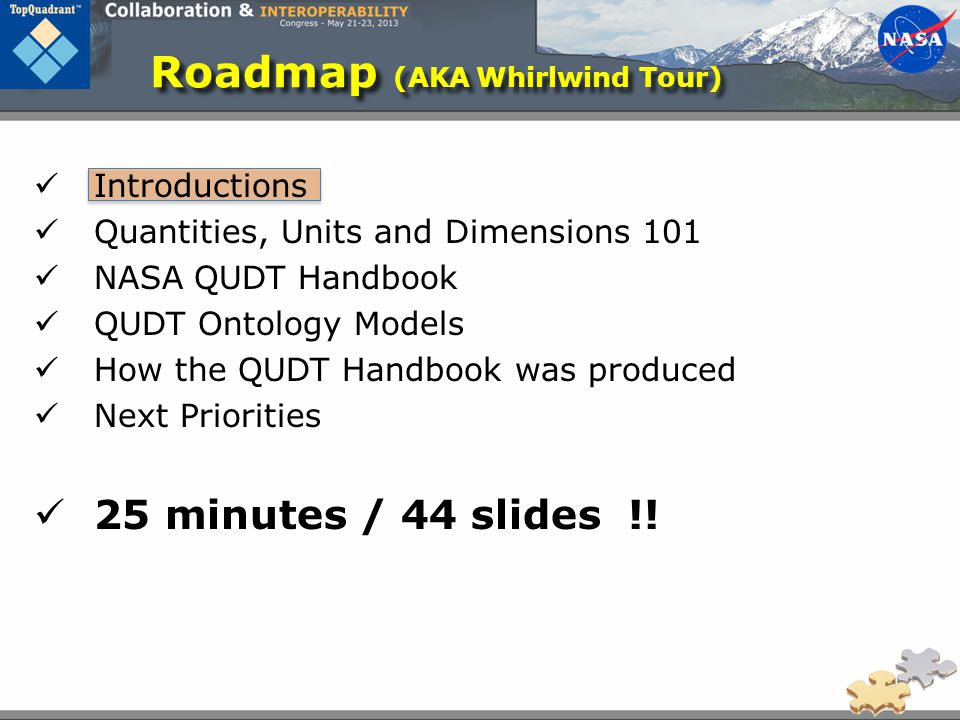 Roadmap (AKA Whirlwind Tour)