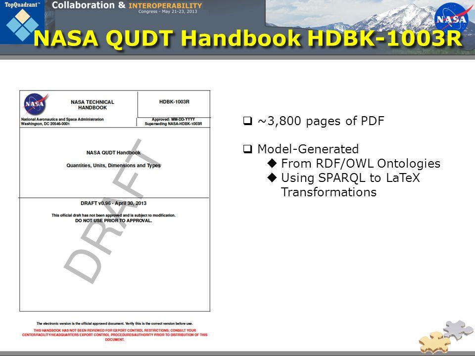 NASA QUDT Handbook HDBK-1003R