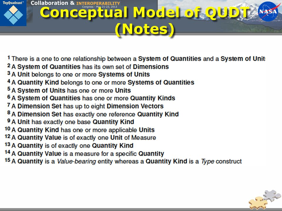 Conceptual Model of QUDT (Notes)