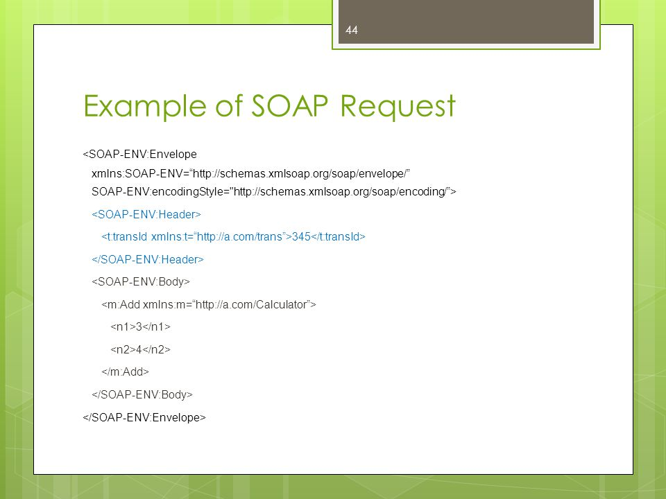 Example of SOAP Request