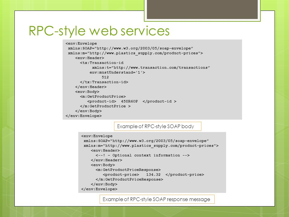 RPC-style web services