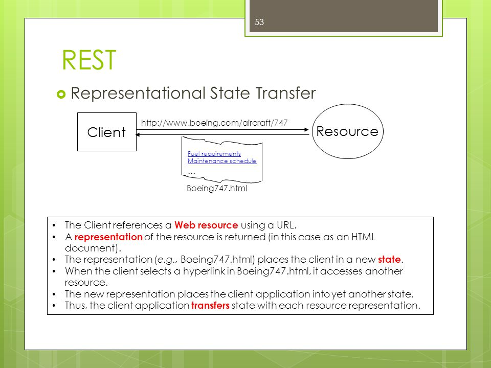 REST Representational State Transfer Resource Client ...
