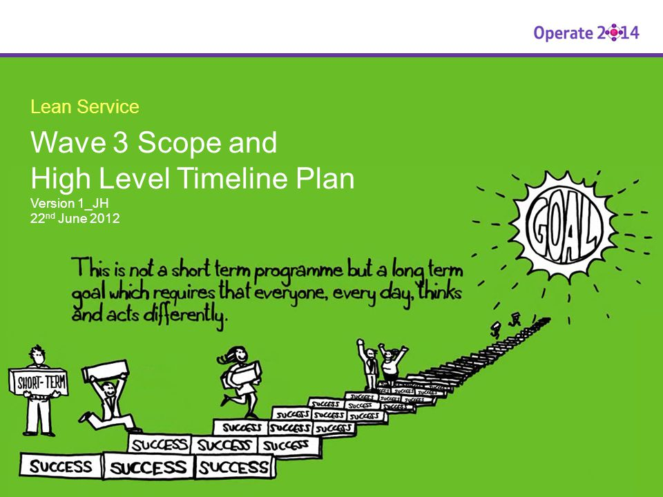 Wave 3 Scope and High Level Timeline Plan Version 1_JH 22nd June 2012