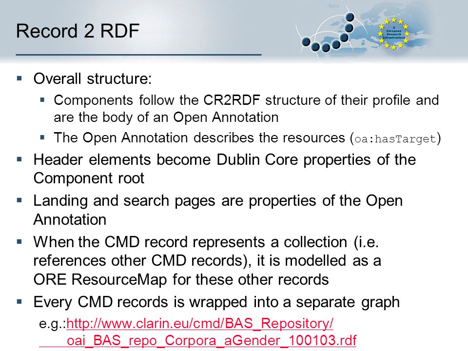 Record 2 RDF Overall structure: