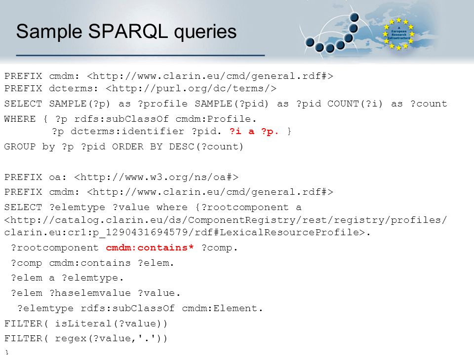 Sample SPARQL queries