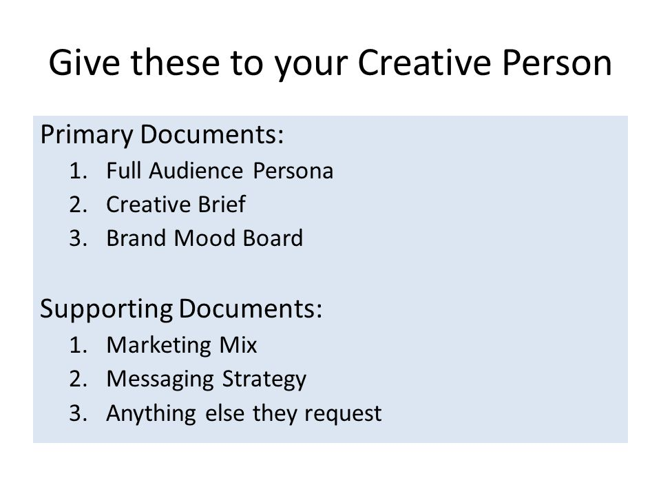 Give these to your Creative Person