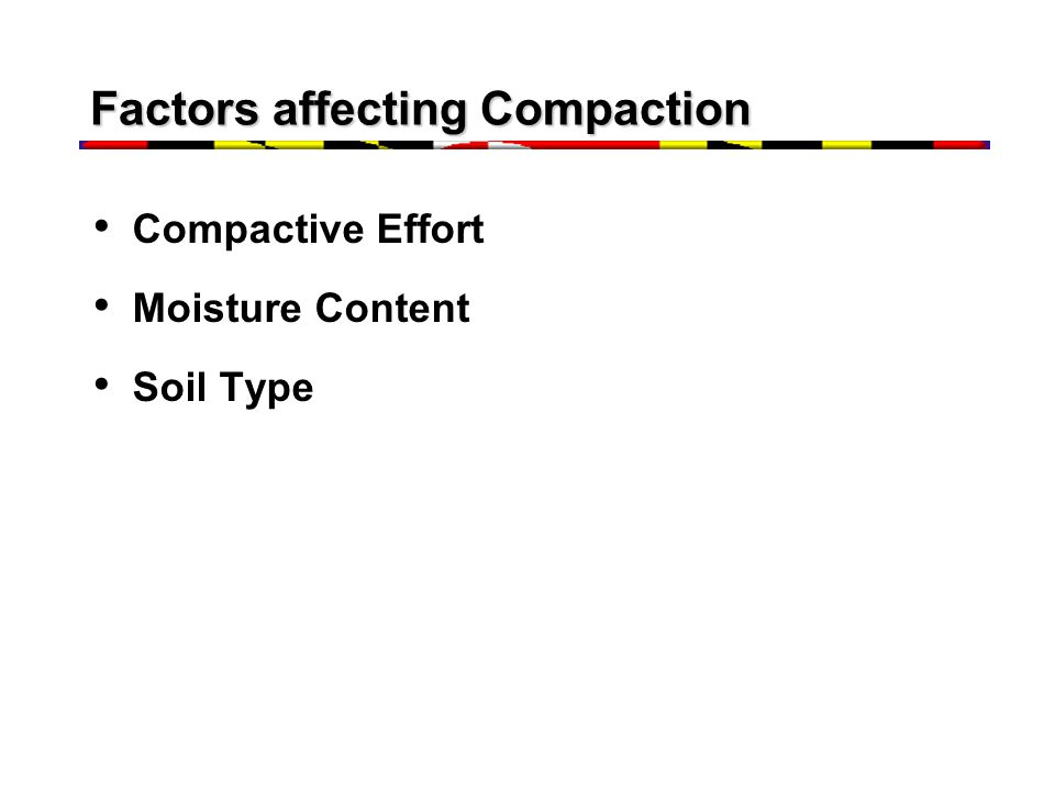 Factors affecting Compaction