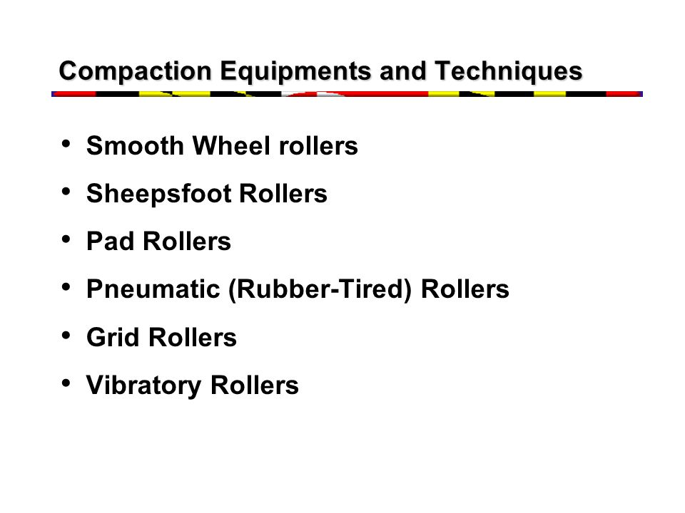 Compaction Equipments and Techniques
